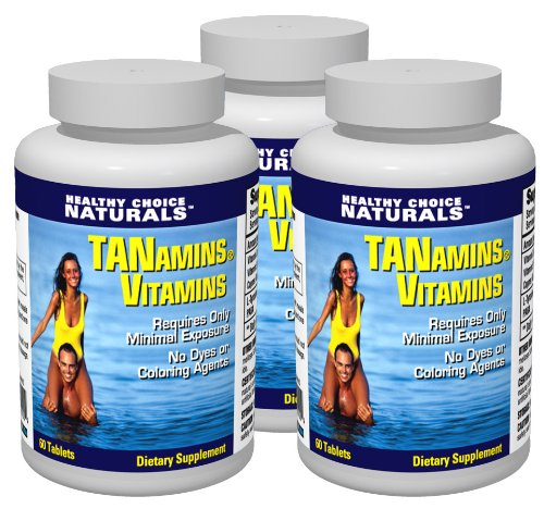 180 Ct Bottle (Tanamins Tanning Vitamin-Get a Darker Tan in Half the Time Without Expensive Tanning Beds (3 bottles/180 count))
