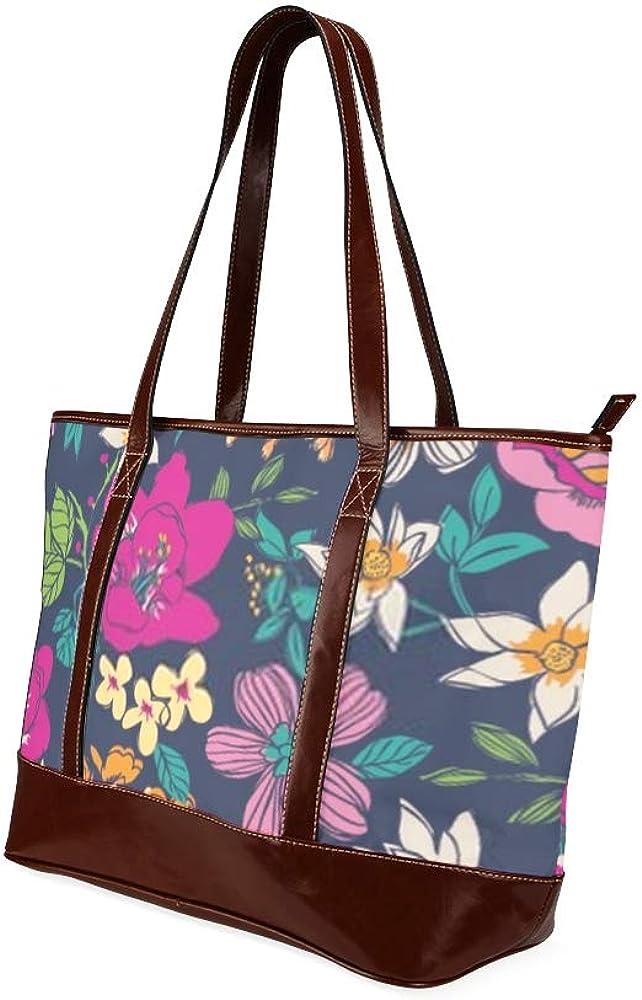 Tote Bags Sketch Flower Seamless Pattern Background Travel Totes Bag Fashion Handbags Shopping Zippered Tote For Women Waterproof Handbag