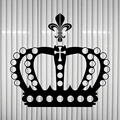 Tatuaje adhesivo de decoración con forma de corona (28 cm) y lirio ...