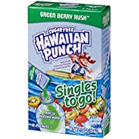 Hawaiian Punch Singles To Go Powder Packets, Water Drink Mix, Green Berry Rush, 96 Single Servings (Pack of 12)