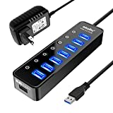 Powered USB Hub 3.0, Atolla 7-Port USB Data Hub
