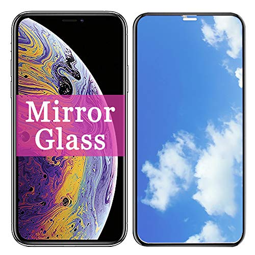 Xs Max Screen Protector 【 Mirror Effect 】 Compatible with Apple iPhone Xmax Tempered Glass Protective Film 6.5 inch (2018) [ 3D Curved ] [ 9H Hardness ] IP I Xmaxs X S 10XS Sxmax Cell Phone iPxsmax