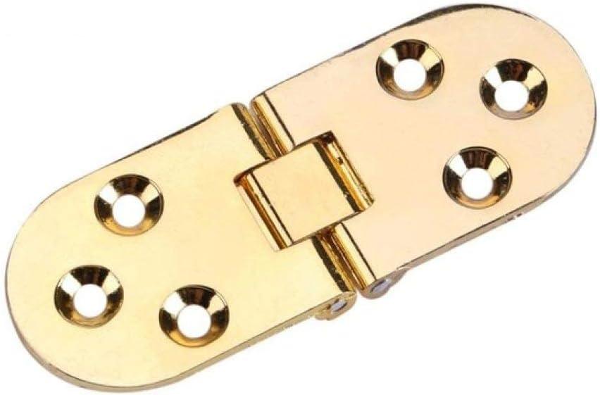 WHLJKN bisagra,1 pieza Aleación de zinc Bisagra de metal Máquina de coser de borde redondo Muebles de mesa plegable Bisagras de bandejas Bisagras de puerta grande, Dorado
