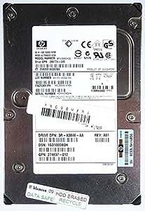 36,4GB HDD HP bf03685a353R de a3846de AA U320SCSI id9741