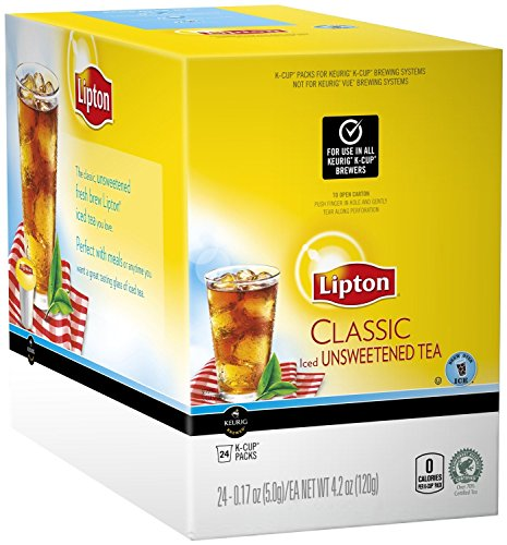 - Lipton K-Cup Packs, Classic Unsweetened ICED Tea, 48 Count