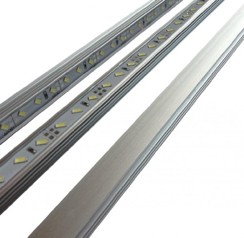 Aquarium LED Light ReefBar 24'' 8000k Natural White 18W Reef FreshWater Planted Cichlid BAR ONLY by 21 LED