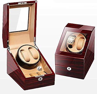 SuRose Caja giratoria para Relojes Rotador automático del Reloj con 2 + 3 Estuche de Cuero: Amazon.es: Deportes y aire libre