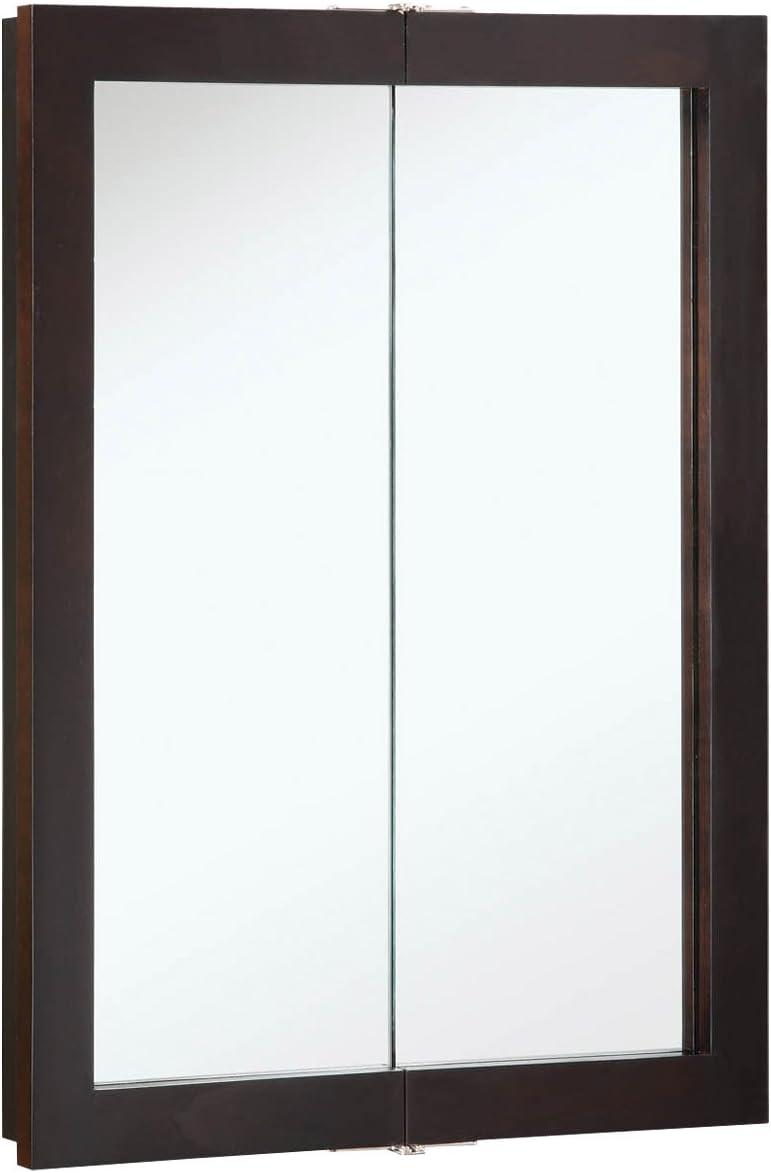 Design House 541334 Ventura Bi-View Medicine Cabinet Mirror 24 , Espresso, W x 30 H