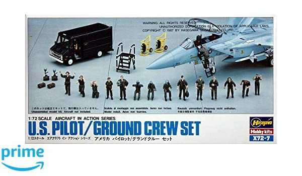 Hasegawa American Air Force Pilot Grand Crew Set 1//72 Plastic model Kit  X72-7