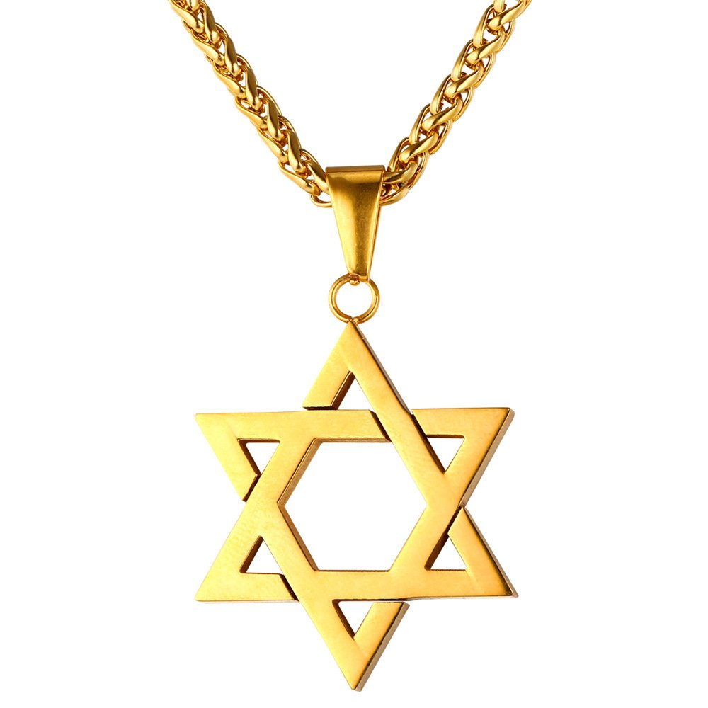 gold d products yg david textured a of pendant necklace star psod magen