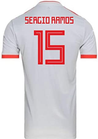 2018-2019 Spain Away Adidas Football Soccer T-Shirt Camiseta (Sergio Ramos 15) - Kids: Amazon.es: Deportes y aire libre