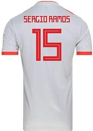2018-2019 Spain Away Adidas Football Soccer T-Shirt Camiseta (Sergio Ramos 15) - Kids: Amazon.es: Deportes y aire libre