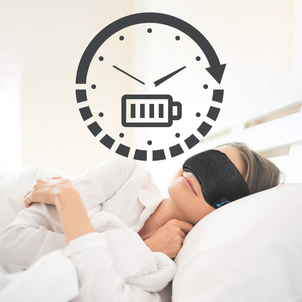 Bluetooth Sleep Mask for Women & Men Wireless Bluetooth Headphones Music Travel Sleeping Headset Ultra Soft Breathable Built-in Speakers Microphone ...