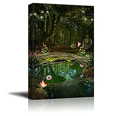 Alluring Creative Design, Made With Top Quality, Beautiful Forest Enchanted Pond Wall Decor