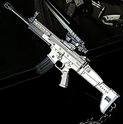Amazon.com: Chouge SCAR-L Games Eat Chicken - Mini rifle de ...