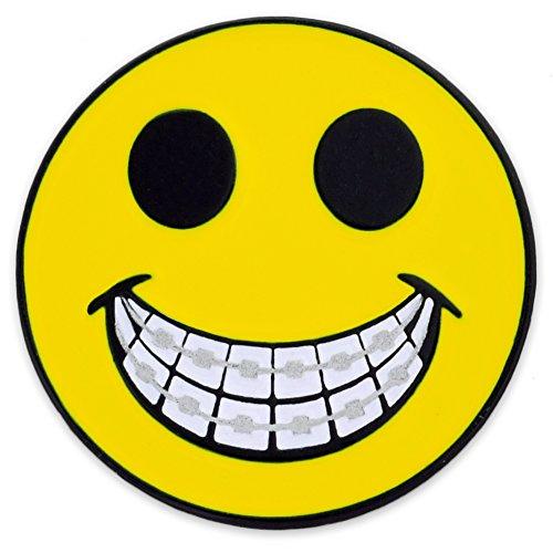 Pinmart s Yellow Smiley Face w/ Braces Dentist Orthodonti...