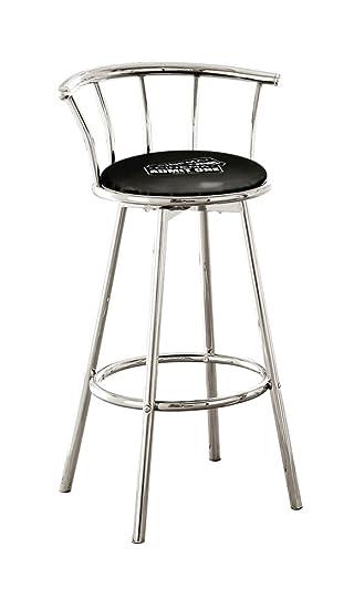 Sensational Amazon Com New 29 Tall Chrome Metal Bar Stools Features A Machost Co Dining Chair Design Ideas Machostcouk