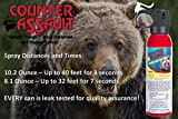 Counter Assault - EPA Certified, Maximum Strength & Distance Bear Repellent Spray - Hottest Formula Allowed by Law - Night Glow Locator & Tactical Holster Included