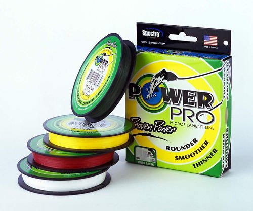 Fishing Ice Line Fishing - Power Pro Spectra Fiber Braided Fishing Line, Moss Green, 1500YD/80LB