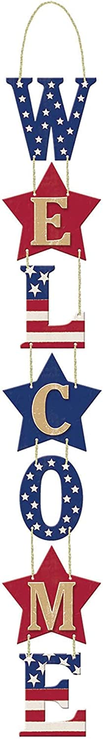 4E's Novelty 4th of July Decorations Welcome Sign 28