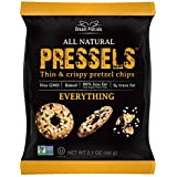 Pressels Baked Pretzel Chips – Non-GMO, Low-Calorie, Vegan, Kosher – Less Fat & Sodium Than Ordinary Chip – Thin, Crispy, Tasty Mini Pretzel Snack Bags by Dream Pretzels, Everything, 2.1 Oz, 8-Pack