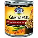 Nature's Recipe Grain Free Wet Dog Food Chicken & Venison Stew (12 Pack), 10 oz