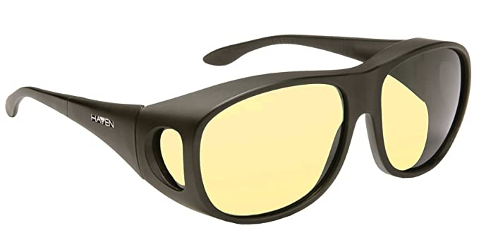 128dcf8ca2b Amazon.com  Haven Night Drivers Classic Square Yellow Lens Black ...