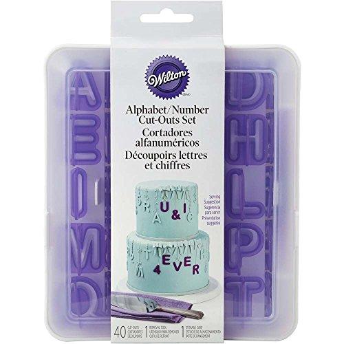 Wilton 417-2589 40-Piece Fondant Alphabet Number Cutouts Alphabet Letter Cut Outs