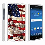 zte zmax phone cases new york - MINITURTLE Case Compatible w/ ZTE ZMAX 2 White Phone Case, Perfect Fit Cell Phone Case Hard Protector Cool Designs for ZTE ZMAX 2 Z958 - New York USA Flag