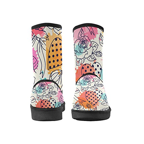 Boots Color12 Womens 5 Graphic Tribal Designs InterestPrint Size Snow Classic Pattern Ethnic Doodle Ladies 12 5 Abstract colorful CHqXSwRS