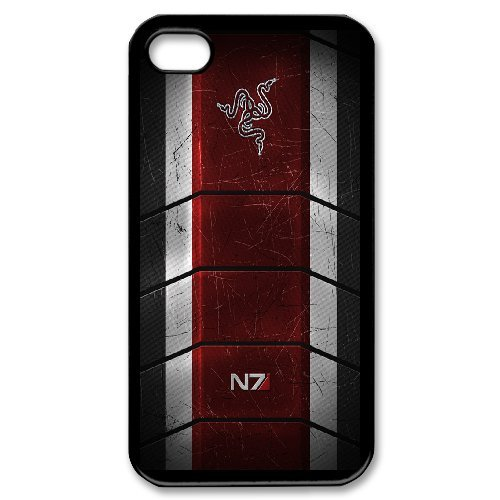 Mass Effect N7 Phone Case And One Free Tempered-Glass Screen Protector For iPhone 4,4S T257899