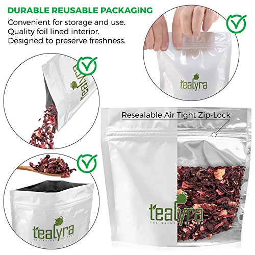 Tealyra - Pure Hibiscus Herbal Tea - Loose Leaf Tea - Organically Grown - Lower Blood Pressure & Help Weight Loss - Vitamins Rich Tea - Healthy Tea - Caffeine Free (14oz / 400g)