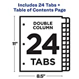 Avery Ready Index 24-Tab Double Column