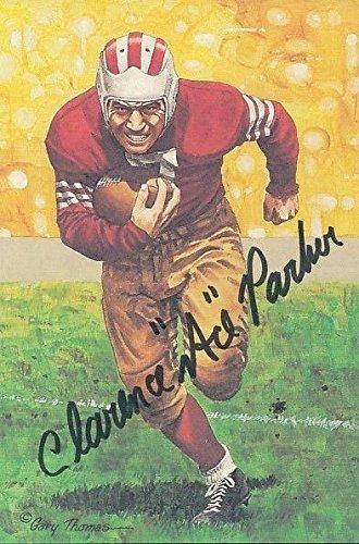 Ace Parker Signed 1991 Goal Line Art Card Autograph Auto Z98512 - PSA/DNA Certified - MLB Autographed Baseball Cards (Parker Autographed Card)