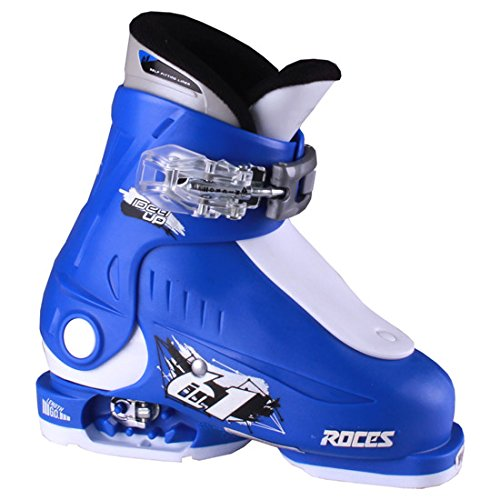 Roces 2016 Idea Adjustable Blue/White Kids Ski Boots 16.0-18.5 (Best Ski Boots For Kids)