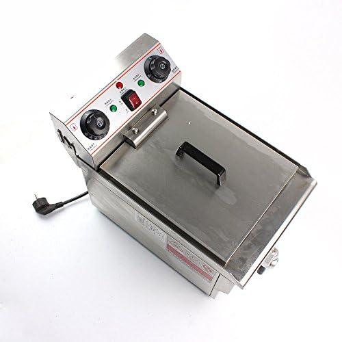 10l fritteuse Acier Inoxydable Gastronomie électrique fritteuse froid Zone 3000W