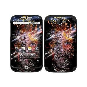 Diabloskinz haz de luz 0044-0010-0004 B Skin para el HTC Wildfire