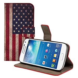 Uming Leather style for Samsung Galaxy S4 I9500 I9505 ( NOT FOR S4 Active I9295 ) Colorful America Flag U.S. Flag U.S. USA Pattern Leather Case Protector Skin Case Cover