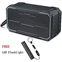 Outdoor Bluetooth Speaker - AINATU Wireless Bluetooth Speaker IPX6 Waterproof Dual 10W Drivers, Bluetooth 4.2, Enhanced Bass, Built in Mic,water Resistant, for Outdoor, Party, Beach, Shower & Home