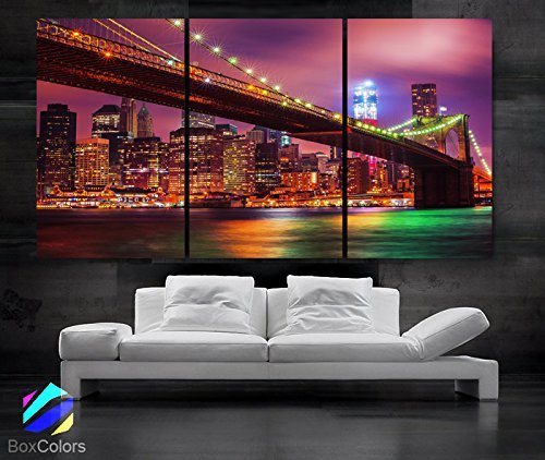 Bridge wall art - Original by BoxColors Large skyscraper wall art - - city scape wall art