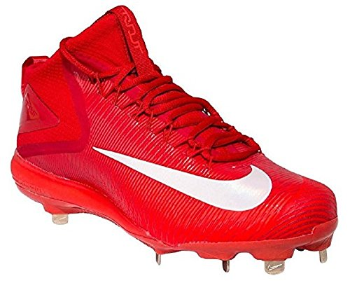 - Nike Zoom Trout 3 Men's Mid Cut Metal Cleats (10.5) Red/White