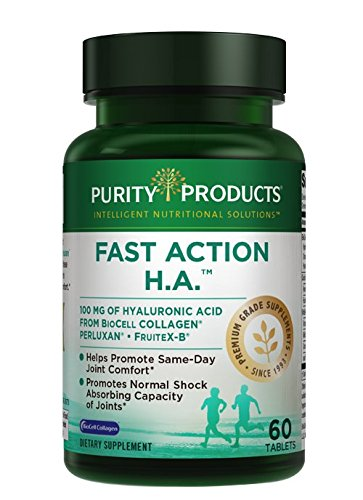 Fast Action H.A. Hyaluronic Acid Super Formula from Purity Products,60 Tablets (Tabs Action)