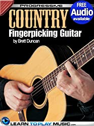 Country Fingerstyle Guitar Lessons: Teach Yourself How to Play Guitar (Free Audio Available) (Progressive) (English Edition)