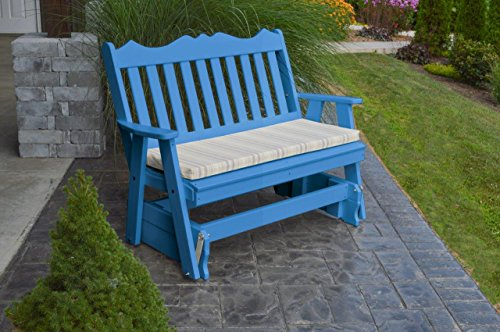 (Outdoor Poly 4 Foot Royal English Glider - Blue )