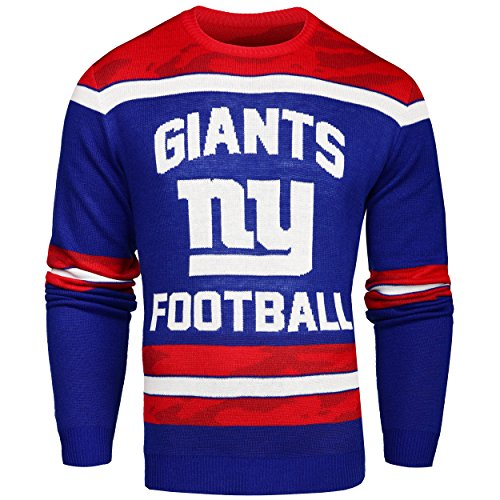 FOCO New York Giants Ugly Glow In The Dark Sweater - Mens - Mens Large by FOCO