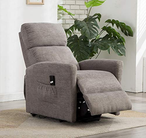 Bonzy Home Recliner New Electric Powered Lift Recliner Chair with Remote Control - Home Theater Seating - Bedroom & Living Room Chair Recliner Sofa for Elderly (Grey C223)