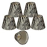 Royal Designs 5'' Black & White Zebra Print Chandelier Lamp Shade, Set of 6, 3 x 5 x 4.5 (CS-961-5-6)