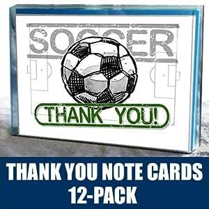 Jugar fuerte deportes fútbol gracias tarjetas de Nota (4,25 ...