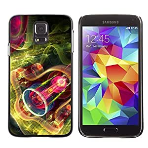 Phone PC Hard Case Cover 436 Fractal Art Flowerings Samsung Galaxy S5 i9600