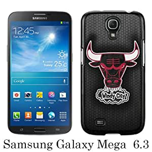 Beautiful And Unique Designed Case For Samsung Galaxy Mega 6.3 I9200 With Chicago Bulls 6 black Phone Case